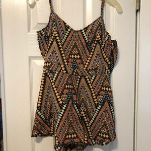 Other - Colorful Romper! cutout on the back!